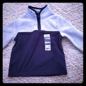 BOGO OshKosh 2T fleece pullover with zipper NWT